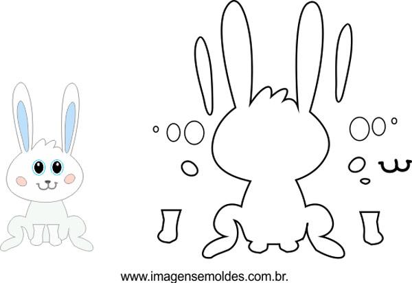 molde de conejo sentado
