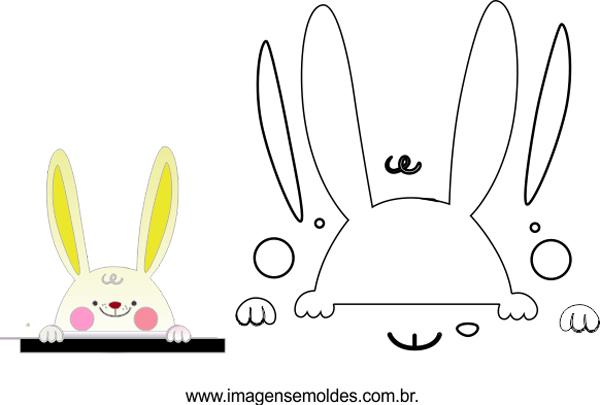 molde de cara de conejo