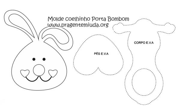 bombón molde de conejo