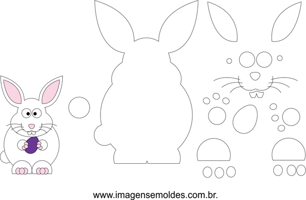 molde de conejo gordo