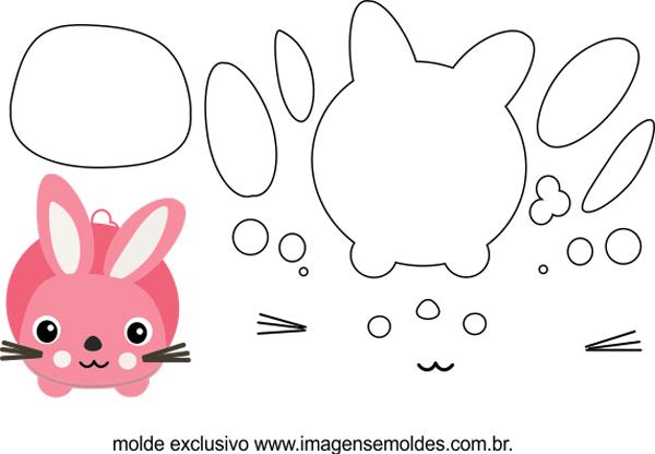 molde de conejo rosa