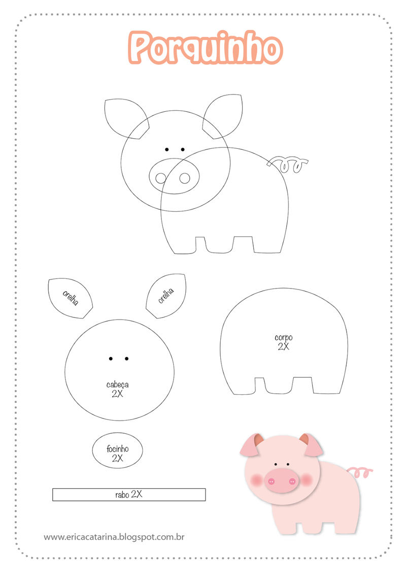 pequeño molde de EVA de cerdo