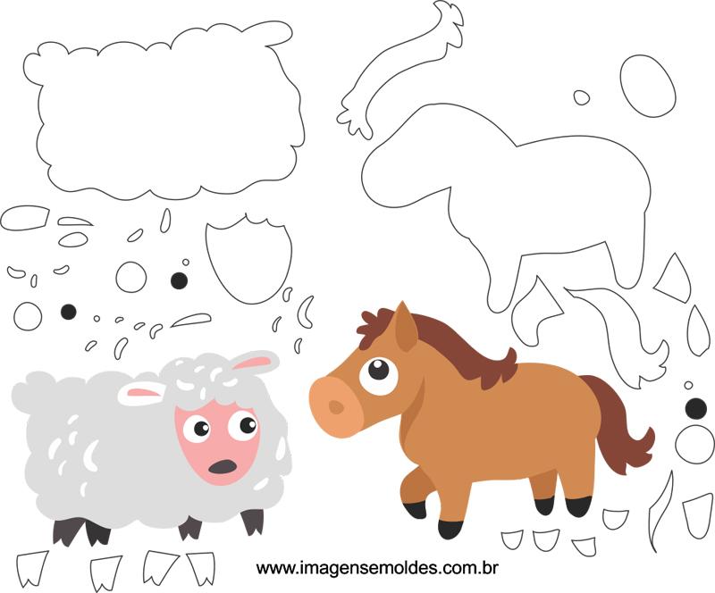 molde animal EVA de granja