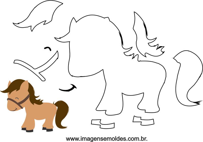 pequeño molde de caballo EVA