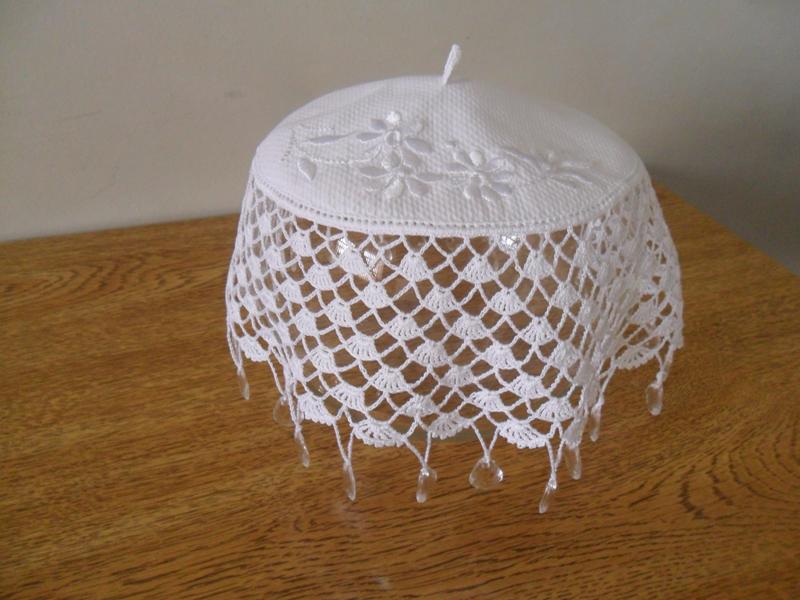 jarra tejida de cobre y crochet
