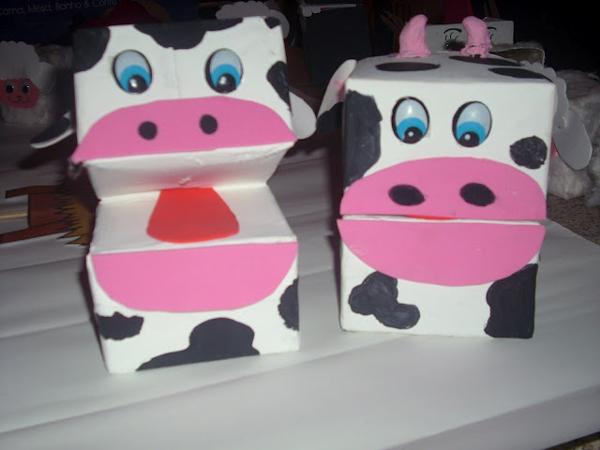 marioneta de vaca eva