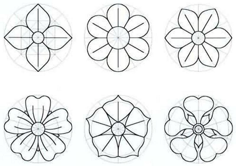 molde de flores con tela