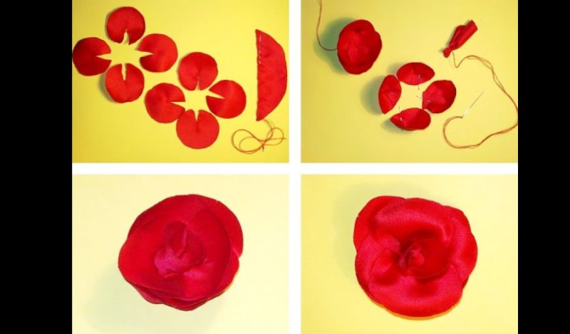 flor con tela tutorial