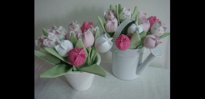 flor con tela de jarra
