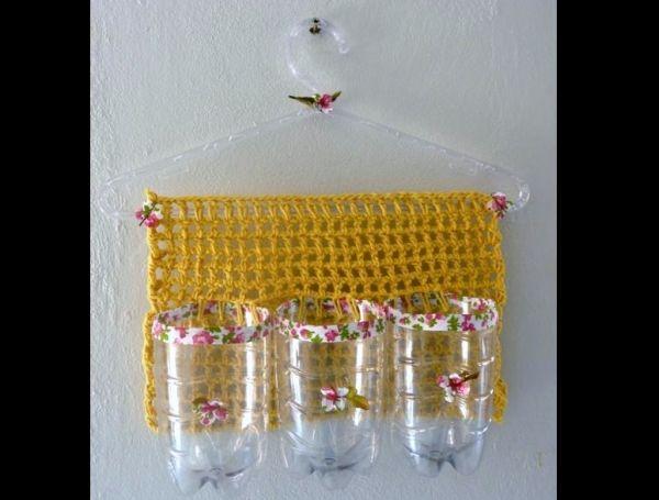 portabotellas para mascotas con crochet