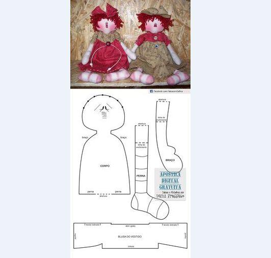 muñeca de tela paso a paso