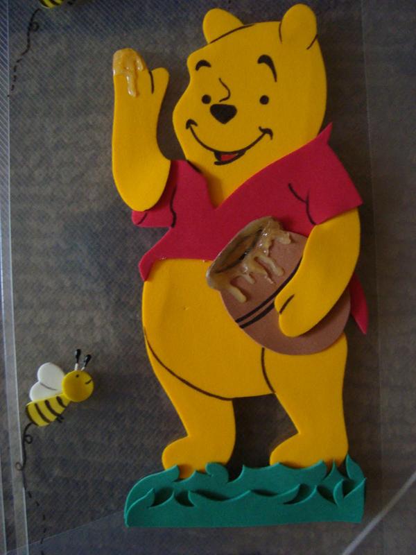 cuaderno con oso eva