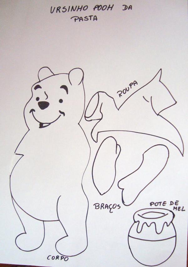cuaderno con plantilla de oso eva