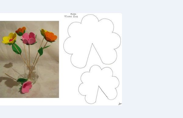 flor eva bombonera con molde