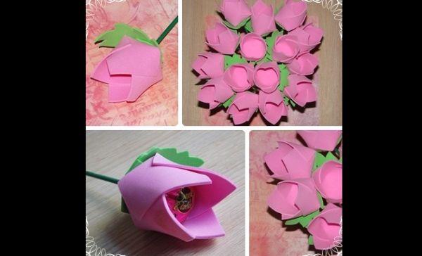 flor rosa eva bombonera