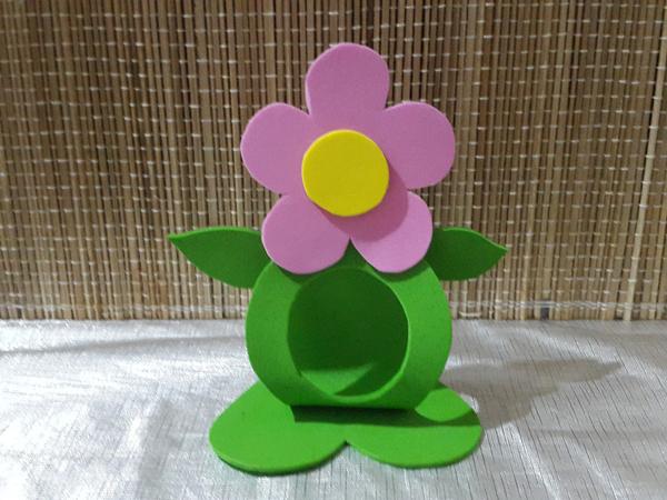 sostenedor de bombón eva flor simple