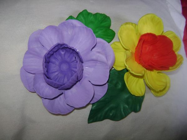 sostenedor de bombón eva flor colorida