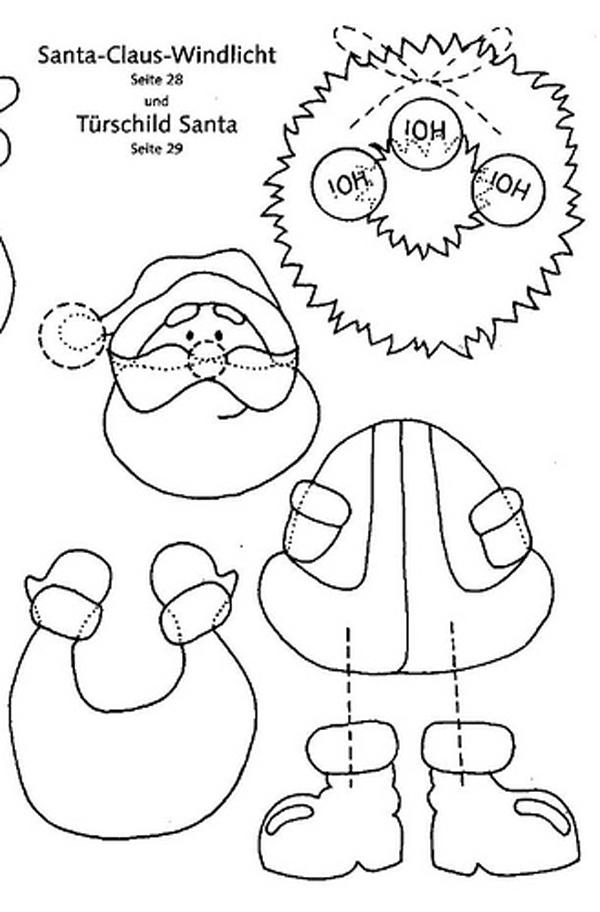Papá Noel eva con ropa