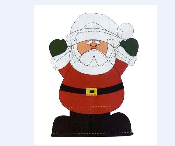 Papá Noel eva panel