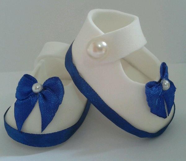 zapato eva azul y blanco
