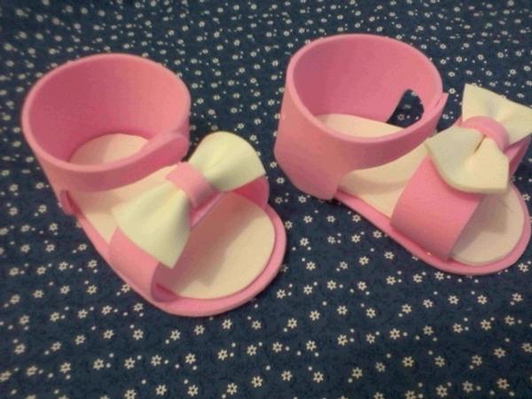 zapato eva rosa y blanco
