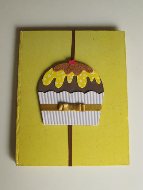 marcador en cupcake eva