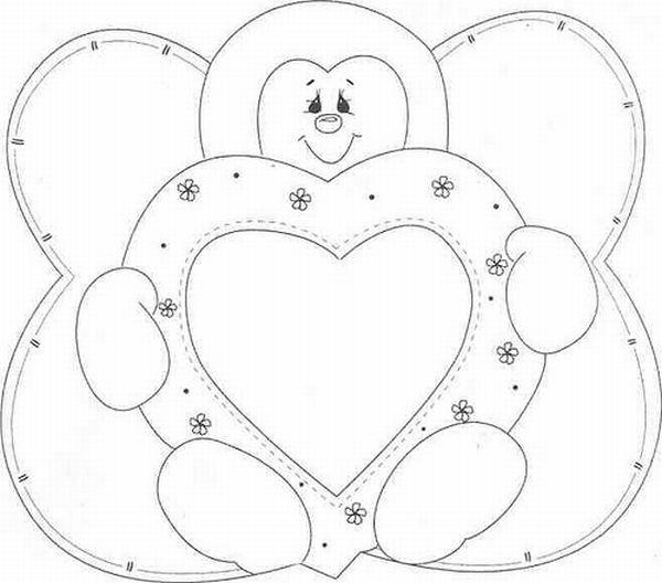 mariquita con doble molde de corazón