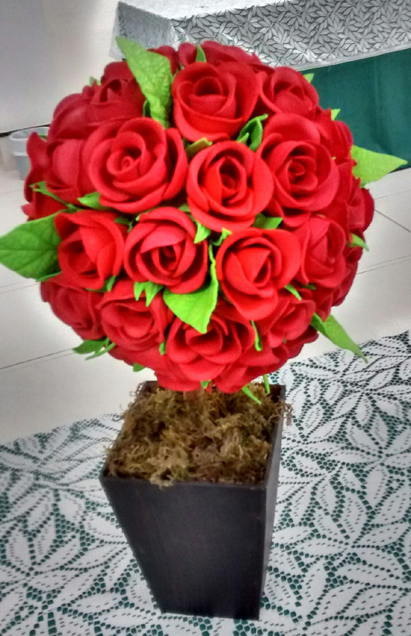 topiario de flores eva