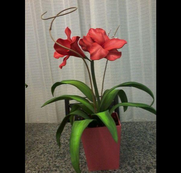 arreglo con flores de EVA