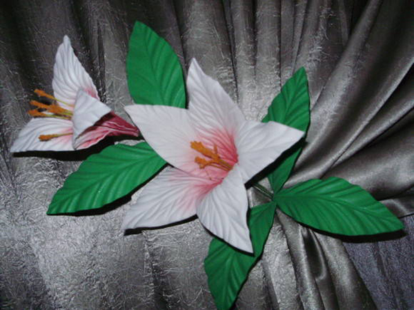 flores de EVA hechas a mano
