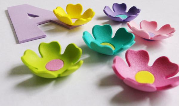 colorida flor de eva