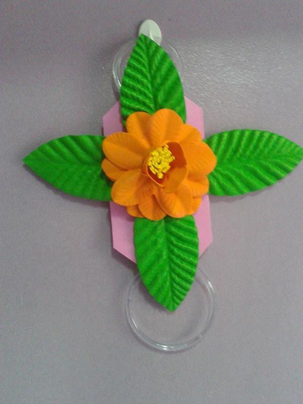 Flor de EVA en soporte