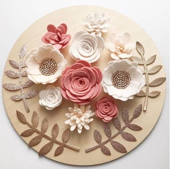 flores de fieltro para cocina