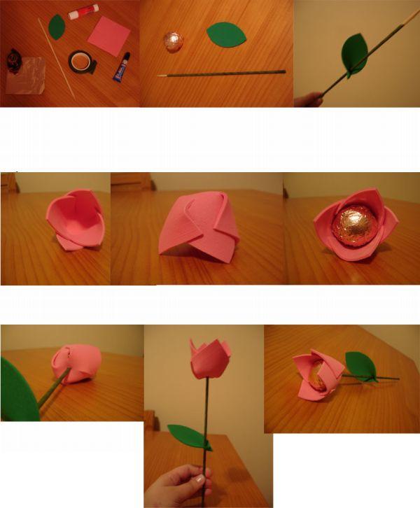 Eva flor bombón puerta paso a paso
