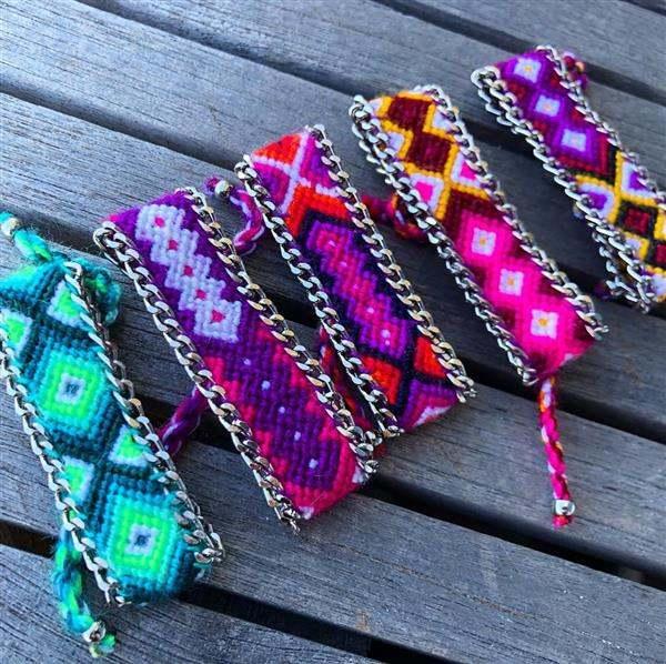 pulsera de tela hippie