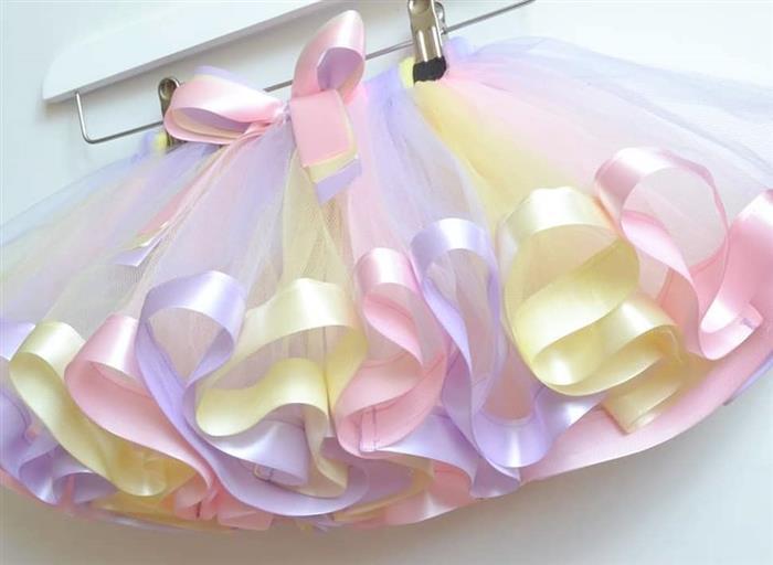 falda de tul con cinta
