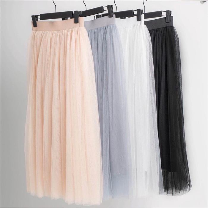 falda larga de tul