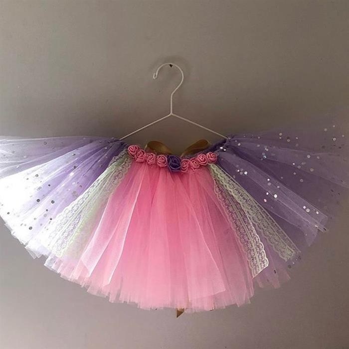 falda de tul de color para niños