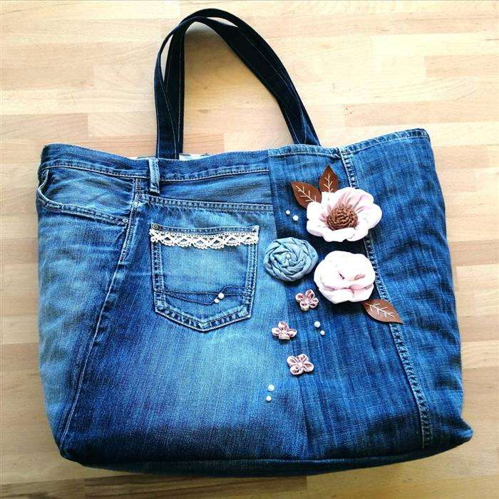 bolsa de jeans personalizada