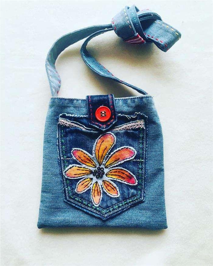 pequeño bolso de jeans