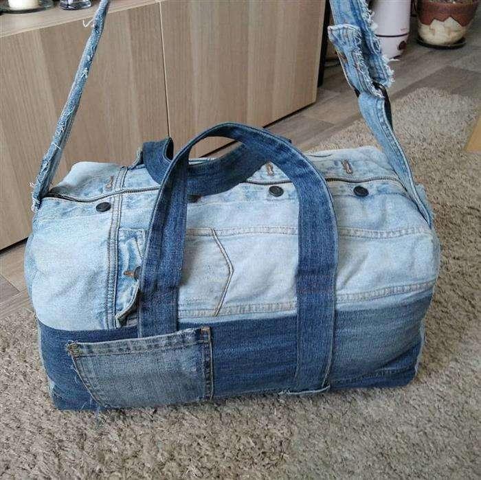 bolsa de jeans de viaje