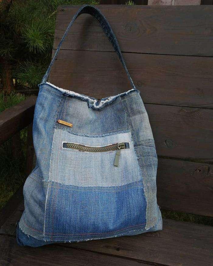 bolso de jeans usado