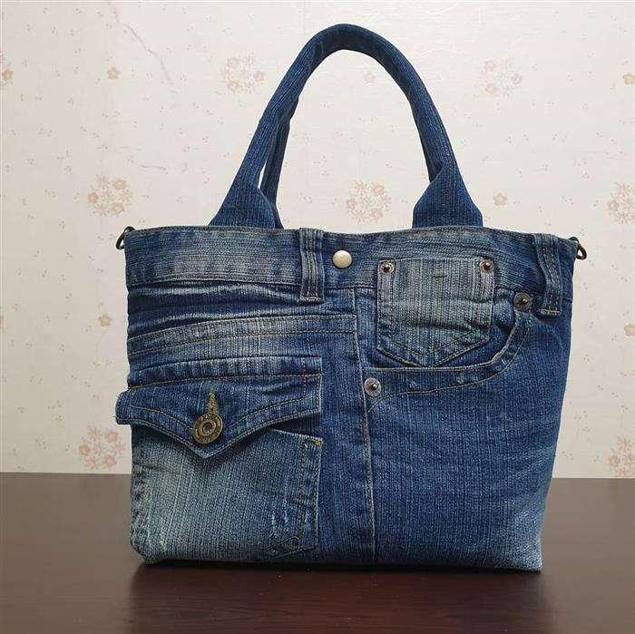 bolso de jeans reciclado