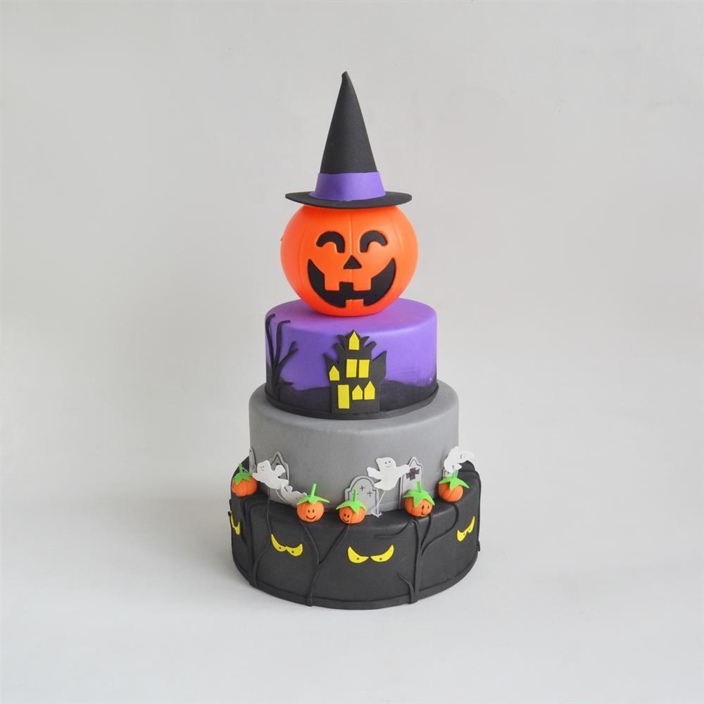 falso pastel de Halloween