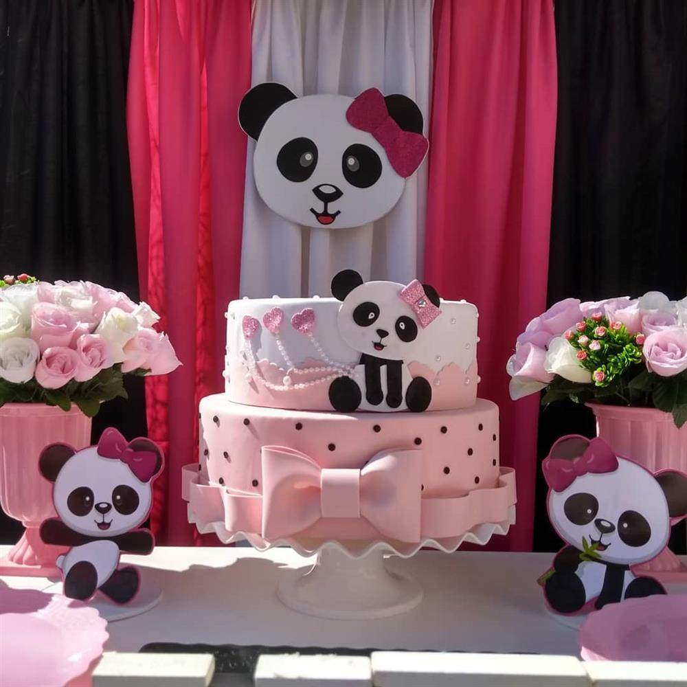 tema de panda rosa