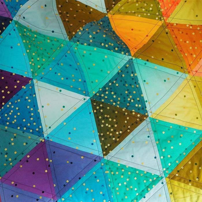 acolchado para principiantes triángulo