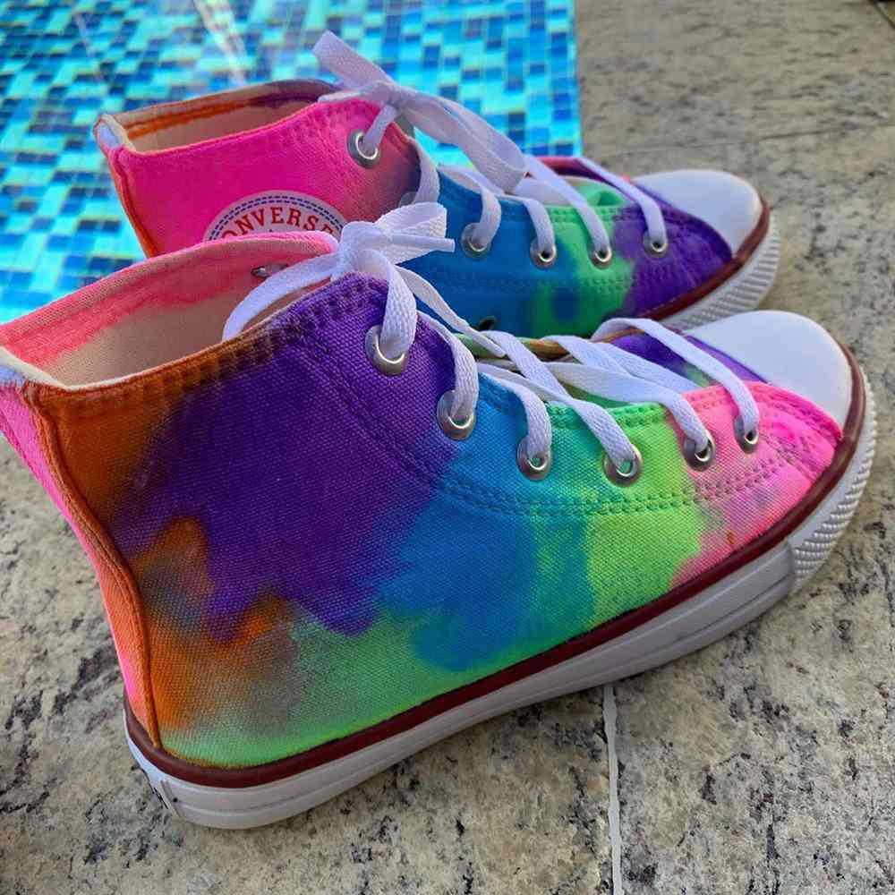 zapatos all star tie dye