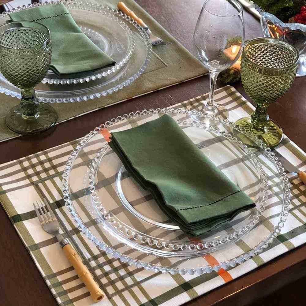 Mantel individual de tela de 6 piezas