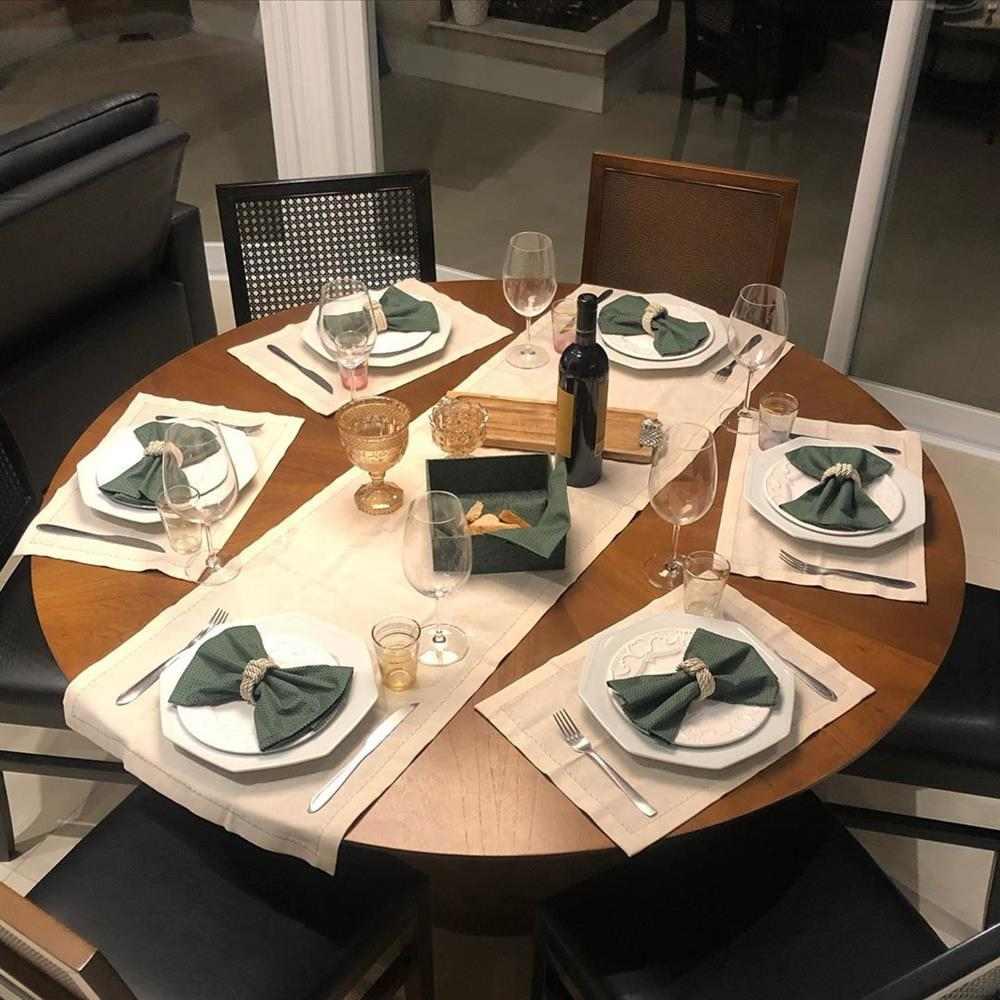 decoración de mesa redonda
