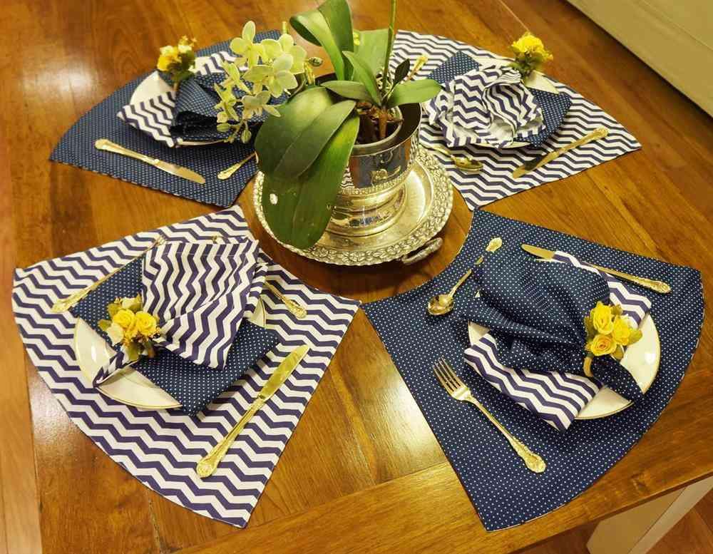 Mantel individual para mesa redonda